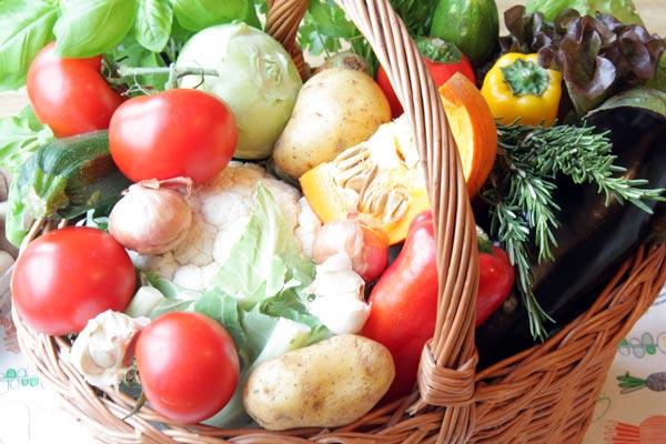Gemüsekorb heimische Ernte
