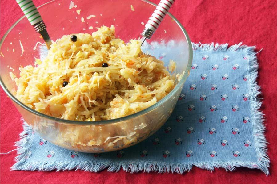 Sauerkrautsalat - Vitaminschub zur kalten Jahreszeit