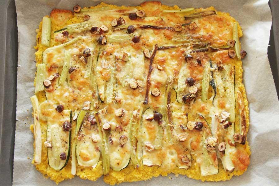 knusprige Polenta-Pizza