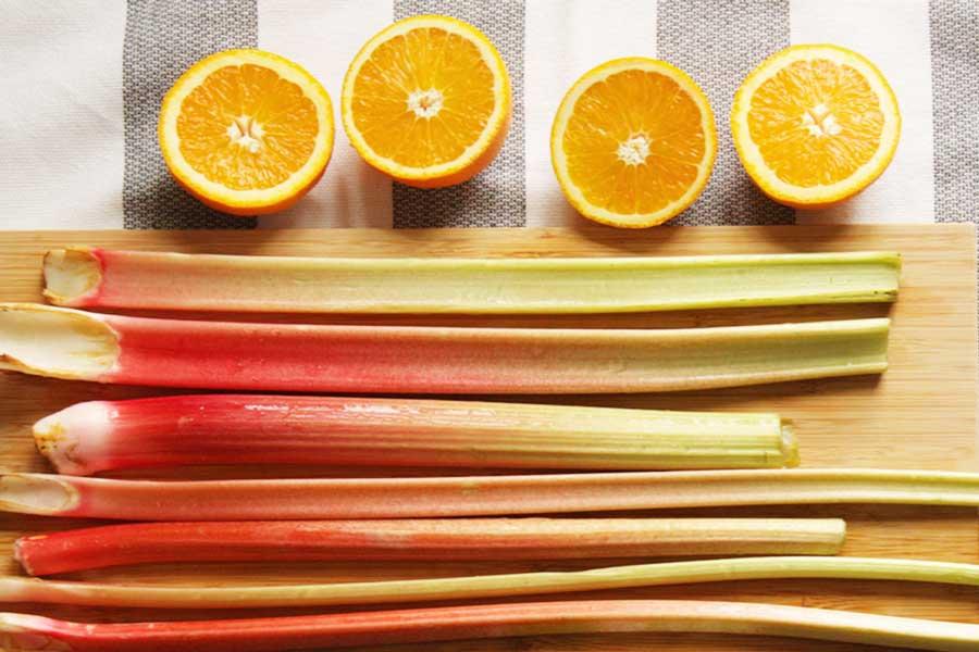 Rhabarber und Orangen als Zutaten