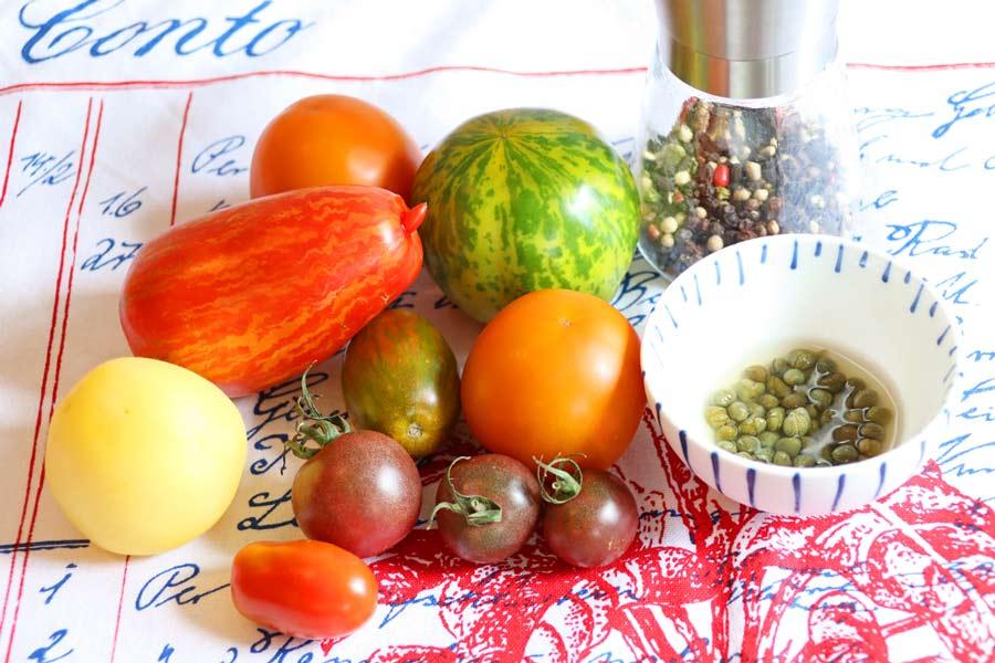 Tomaten in unterschiedlichen Farben