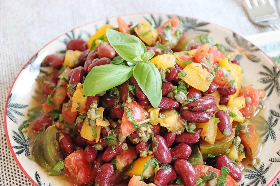 Tomaten-Kidney-Salat